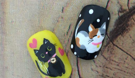 JNECネイリスト技能検定試験2級アート『猫』